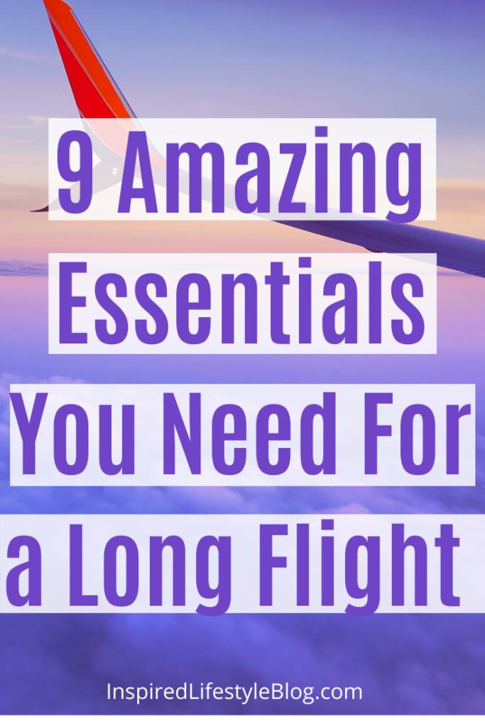 essentials for a long flight